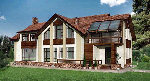 Проекты домов с мансардой - plansru