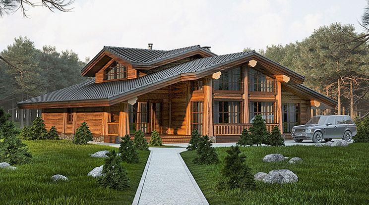 фото проекты деревянное шале